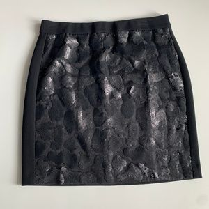 Ann Taylor NWT Sequin Front Stretch Skirt Size 10